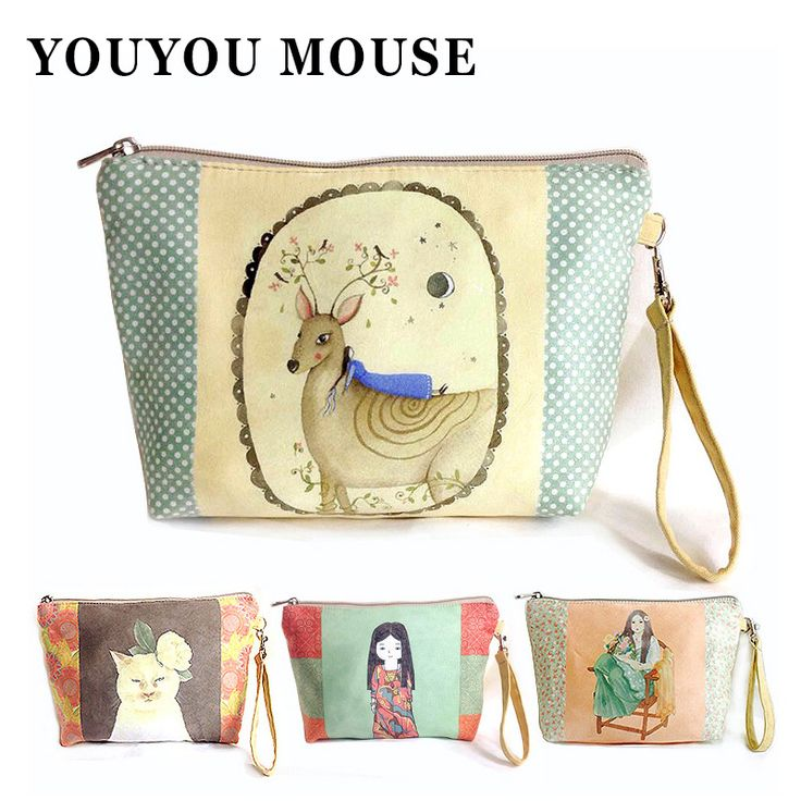 New Creative Paintings Women Coin Purse Korean Style Casual Portemonnee Soft Zipper Business Card Wallet Key Chain Holder