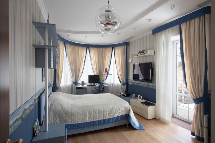 Оформление комнаты для подростка в морском стиле