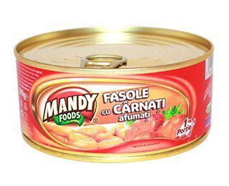 Fasole cu Cârnaţi Afumaţi - Conservă easy-open, 300 g