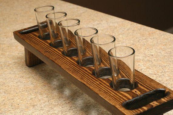 wood shot glass holder 2