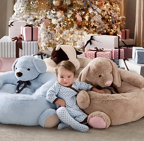 Cuddle Plush Dog Chair | Nursery Accessories | Restoration Hardware Baby & Child