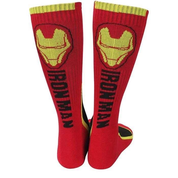 Iron Man Two-Tone Men's Athletic Crew Socks