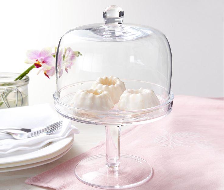 Süteménytartó burával - Szájjal fújt üveg. A bura külön is használható letakaráshoz. Mosogatógépben tisztítható.