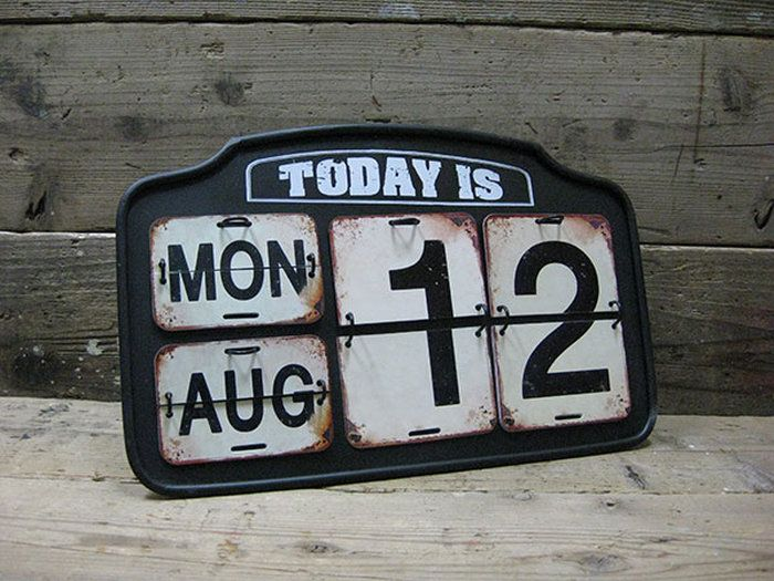【DOULTON】ダルトンガレージカレンダーアイアンカレンダースタンドカレンダー日めくりカレンダーカレンダービンテージアメリカン雑貨アメリカ雑貨アンティーク