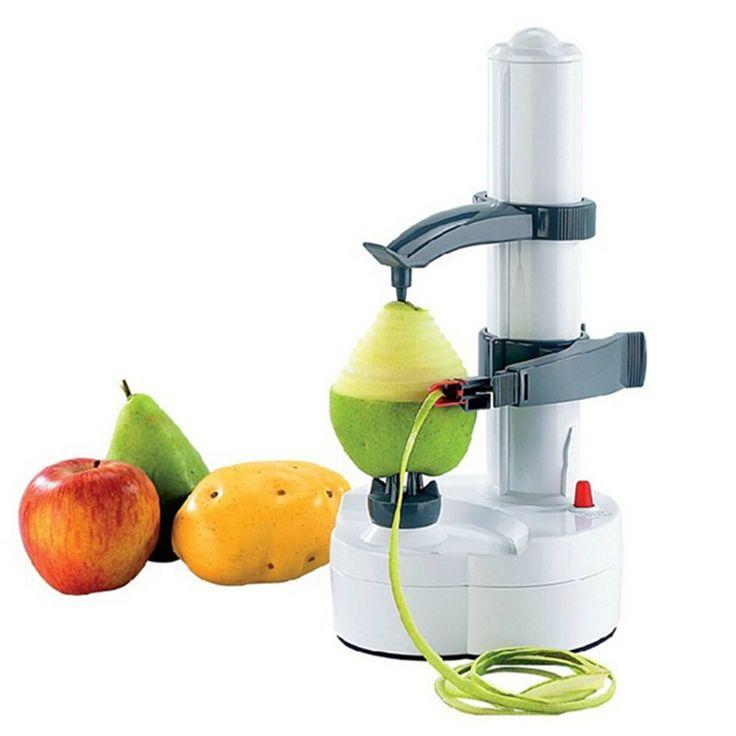 Nuevo apple espiral eléctrica máquina de cortar la fruta del cortador de peeler pelar patatas máquina de batería automático operado con cargador de la ue plug en Policías y Zesters de Hogar y Jardín en AliExpress.com   Alibaba Group