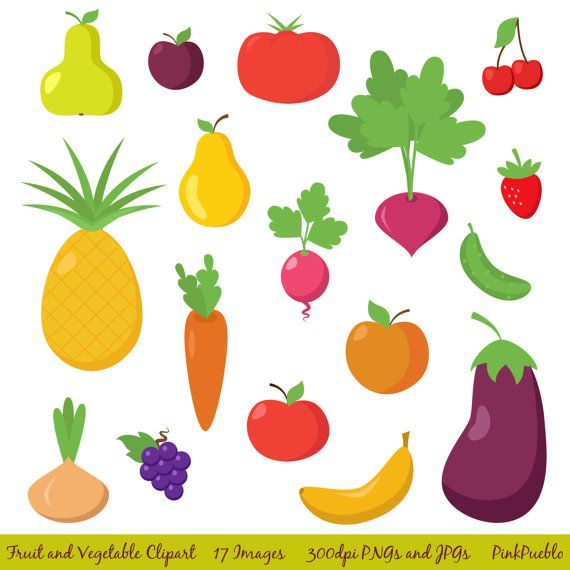 cliparts of fruits and vegetables - photo #1