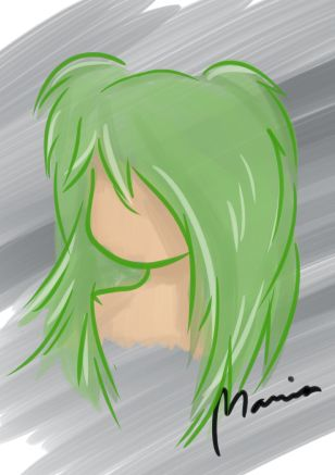 Green hair – digital drawing #mariadrawsdaily #art