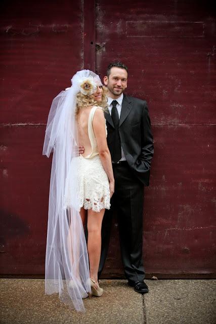 Long Juliet Cap Veil Paired With A Short Wedding Dress Super Sexy