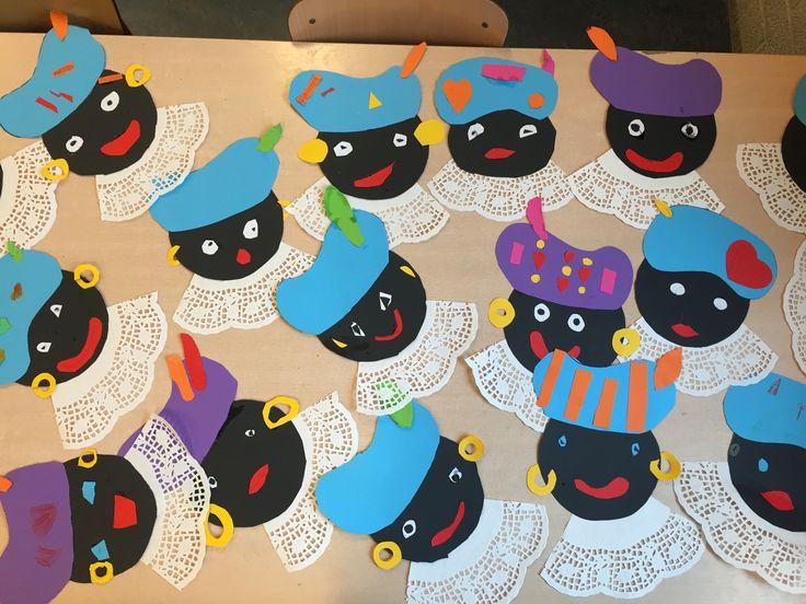 Zwarte piet knutselen, groep 4