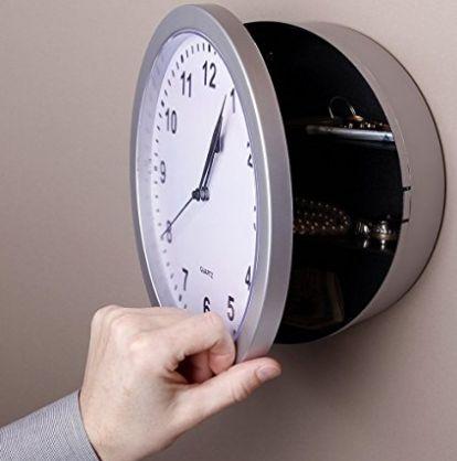 Wall Safe Clock