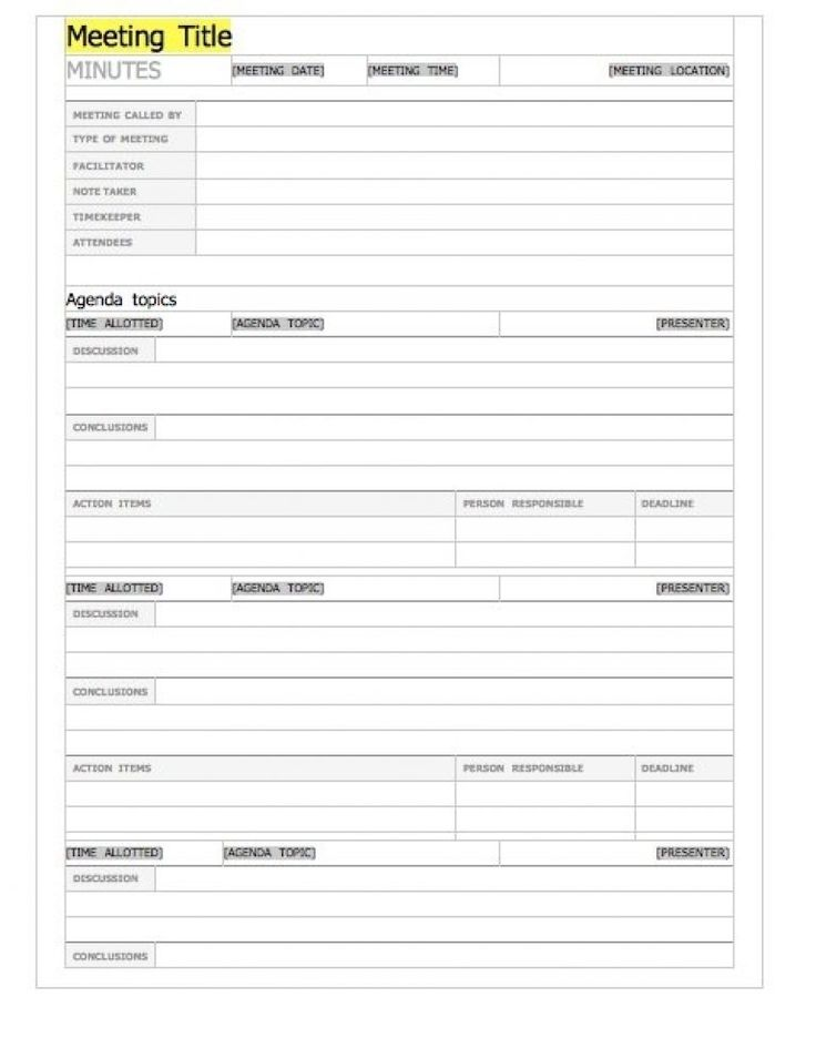 20 Handy Meeting Minutes & Meeting Notes Templates in Meeting Notes Template