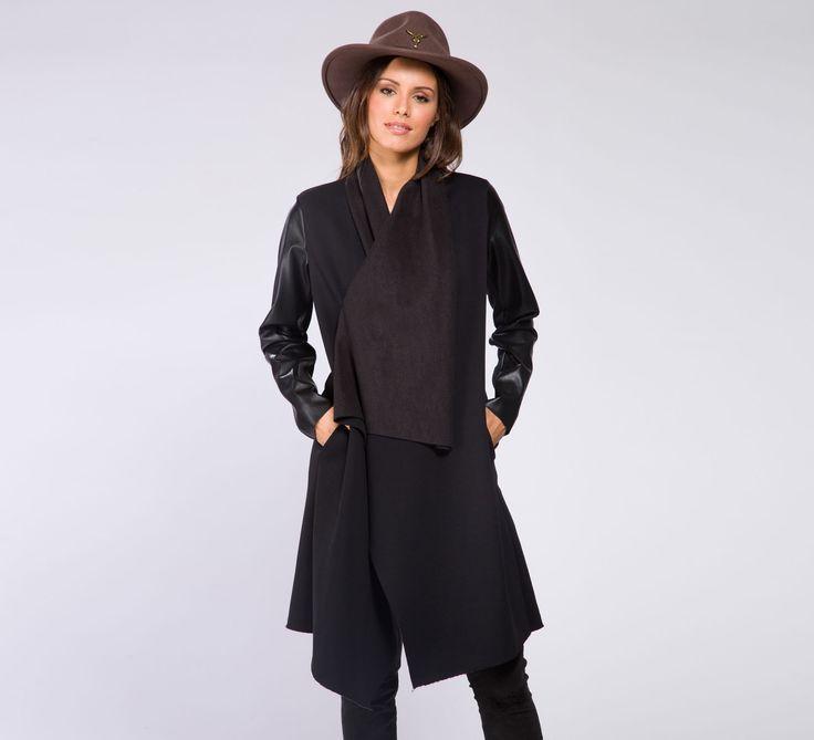 WCS495 - Cycle  #cyclejeans #black #coat