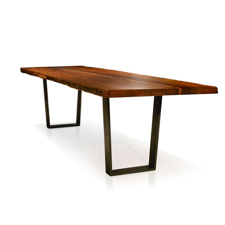 Modernist Dining Table By Tucker Robbins :: A Simple Architectural Base  Accentuates The Exotic Hardwood