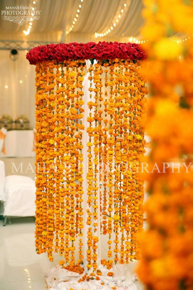 136 best marigold decor images on pinterest indian weddings mehendi party at home decor and food ideas junglespirit Images