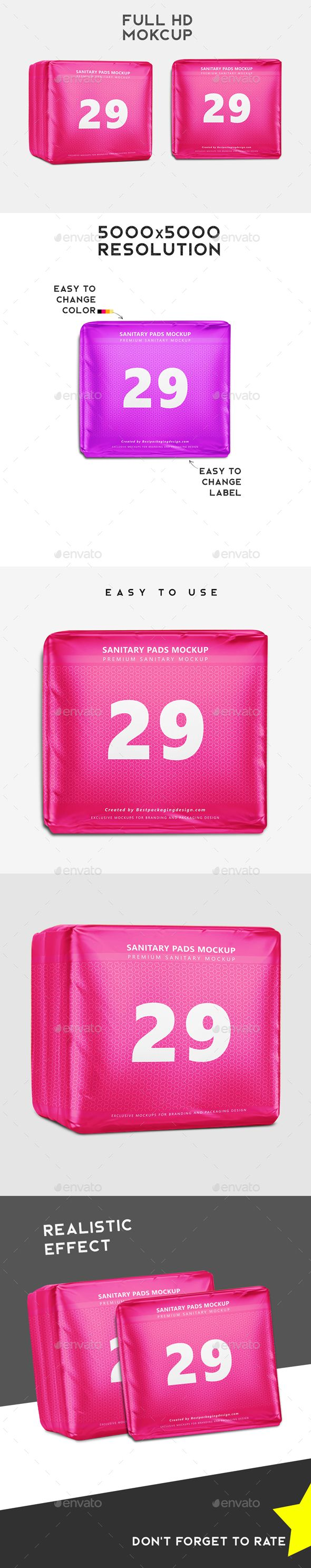 Sanitary Pads Packaging Mockup A 20showcase Your Work On This Hd Mockup Premium Quality And Incredibly Simple To U Sanitary Pads Packaging Mockup Hanger Logo