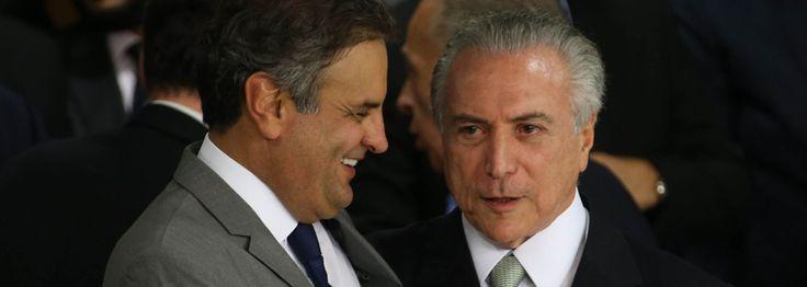 Aecio Neves pede a Golpista Temer apoio para recriar cláusula de barreira e acabar com partidos políticos