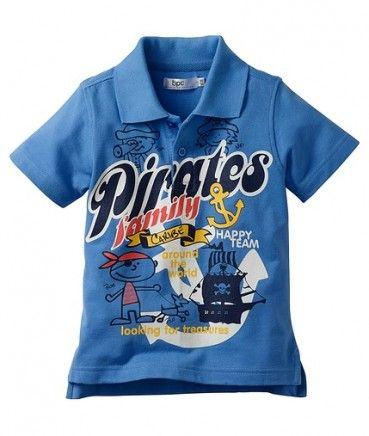 Tricouri ieftine: Tricou polo albastru pentru baieti BPC