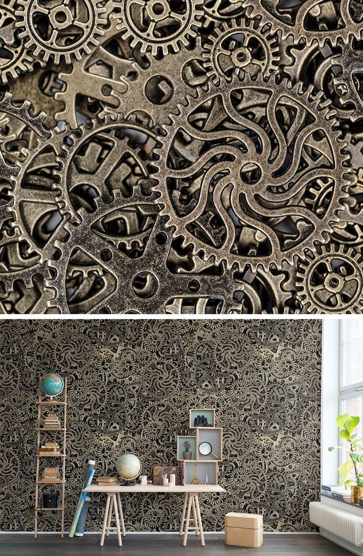 Best 25 steampunk wallpaper ideas on pinterest for Steampunk wallpaper home