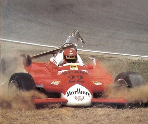 itsawheelthing: game over … Vittorio Brambilla, Marlboro Alfa Romeo 179, 1980 Italian Grand Prix, Imola Brambilla's last ever Grand Prix, after 7 years in F1, of which the last 2 he only raced on a few occasions he scored one victory in his career, at the Osterreichring in '75, the very first win for the factory March team, only one more would follow for Max Mosley & his team, in '76 when Ronnie Peterson would win at Monza