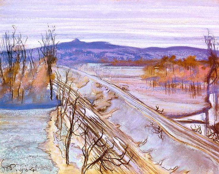 The Athenaeum - View from the studio window (Stanislaw Wyspianski - )