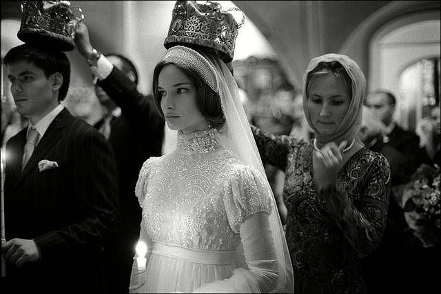 """The Eastern Orthodox marriage ceremony includes the """"crowning"""" of the couple. They are told their role is to be the rulers of their household, but also that these are crowns of martyrdom. (The crown in Byzantine iconography indicates the person died for Christ. """"Martyria"""" means witness; they witnesses their commitment to Christ) The sacrificial aspect of marriage is emphasized in the words of the rite."""