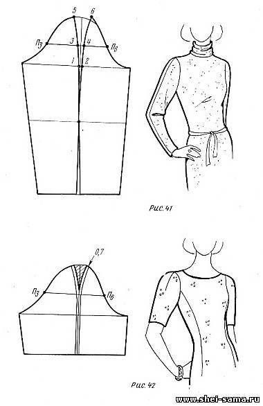 Fitted sleeve , patterns instructions