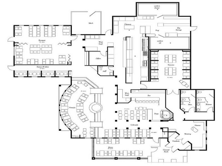 Graet Deal Of The Restaurant Floor Plan With Giovani
