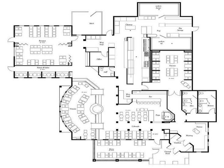 Simple Restaurant Kitchen Floor Plan 10 best restaurant plans images on pinterest