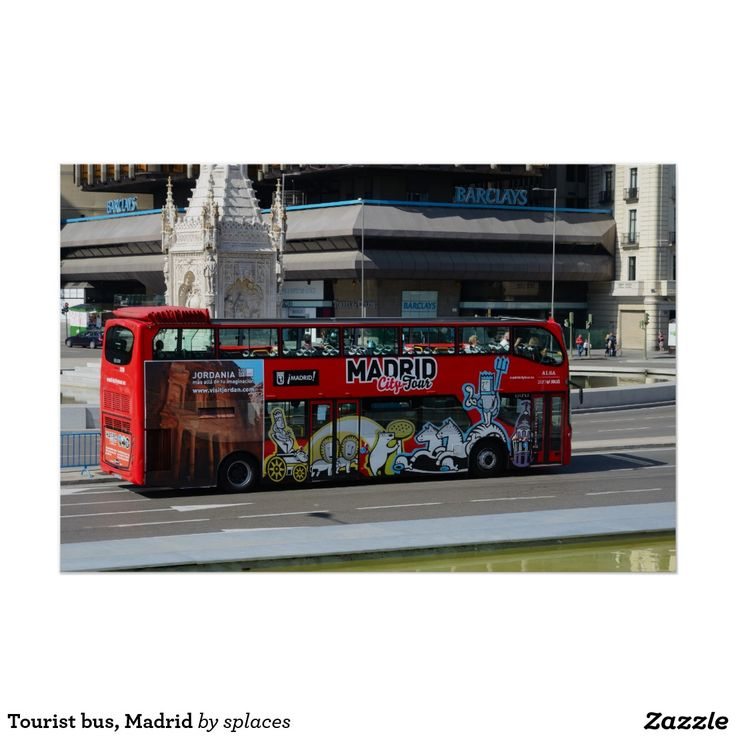Tourist bus, Madrid Poster