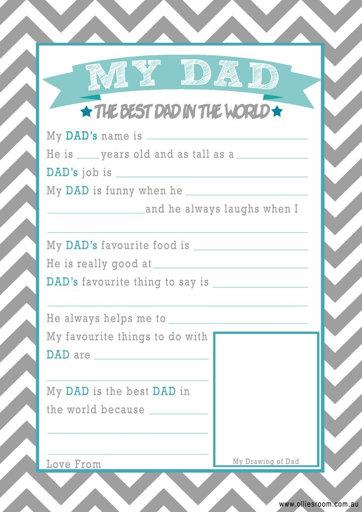 Ollie's Room FREE Father's Day Printables Father's Day