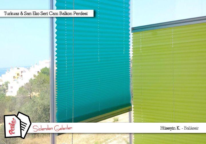 Hüseyin bey de cam balkon perdelerini Perdemania'dan tercih etti. İyi günlerde kullanması dileklerimizle. #perde