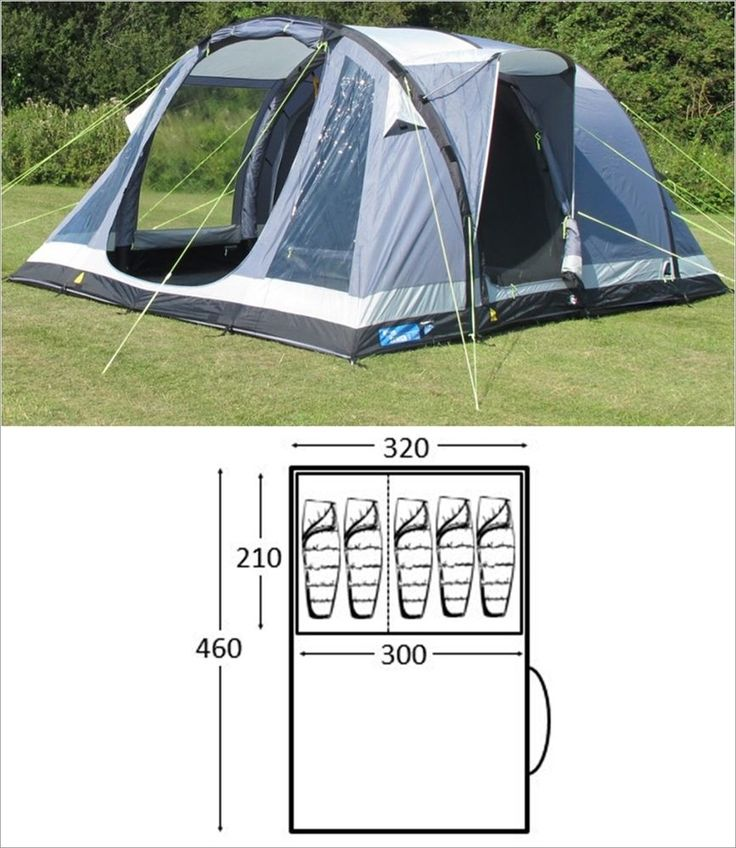 DAMAGED BOX Kampa Oxwich 5 AIR berth person man camping inflatable tent - 2016 in Sporting Goods, Camping & Hiking, Tents & Canopies | eBay!