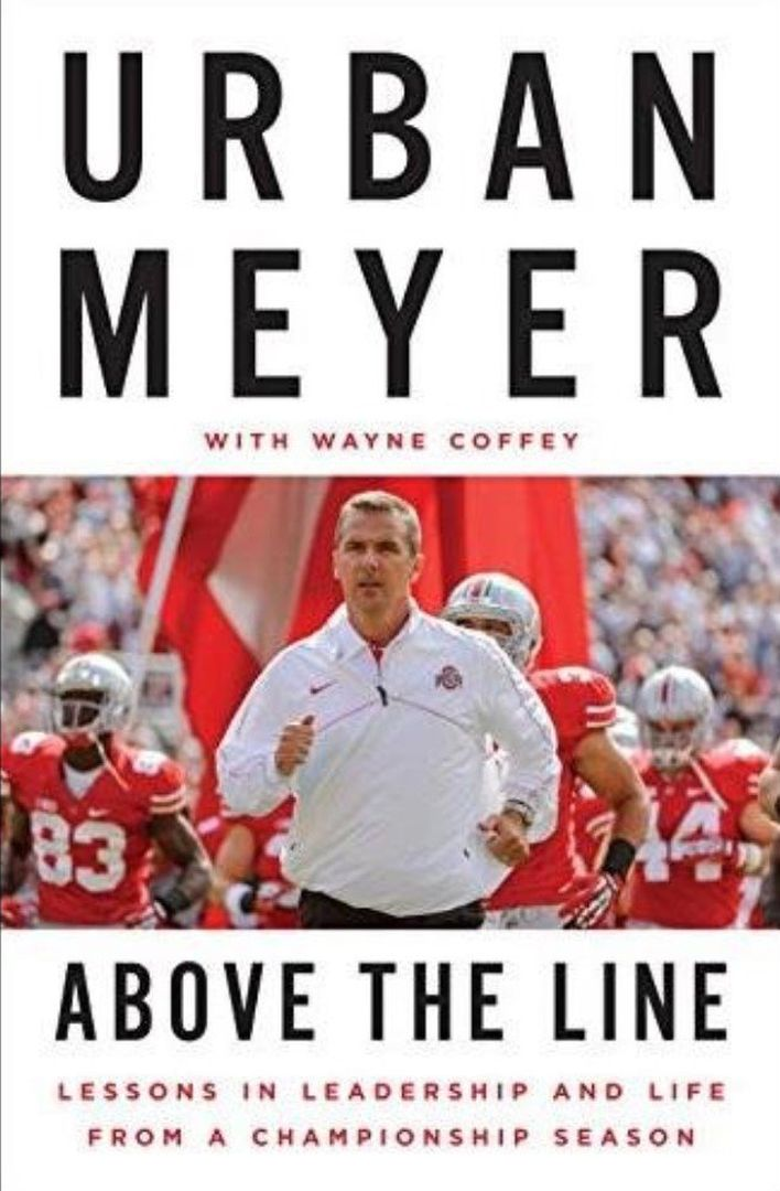 ABOVE THE LINE BY URBAN MEYER COVER.