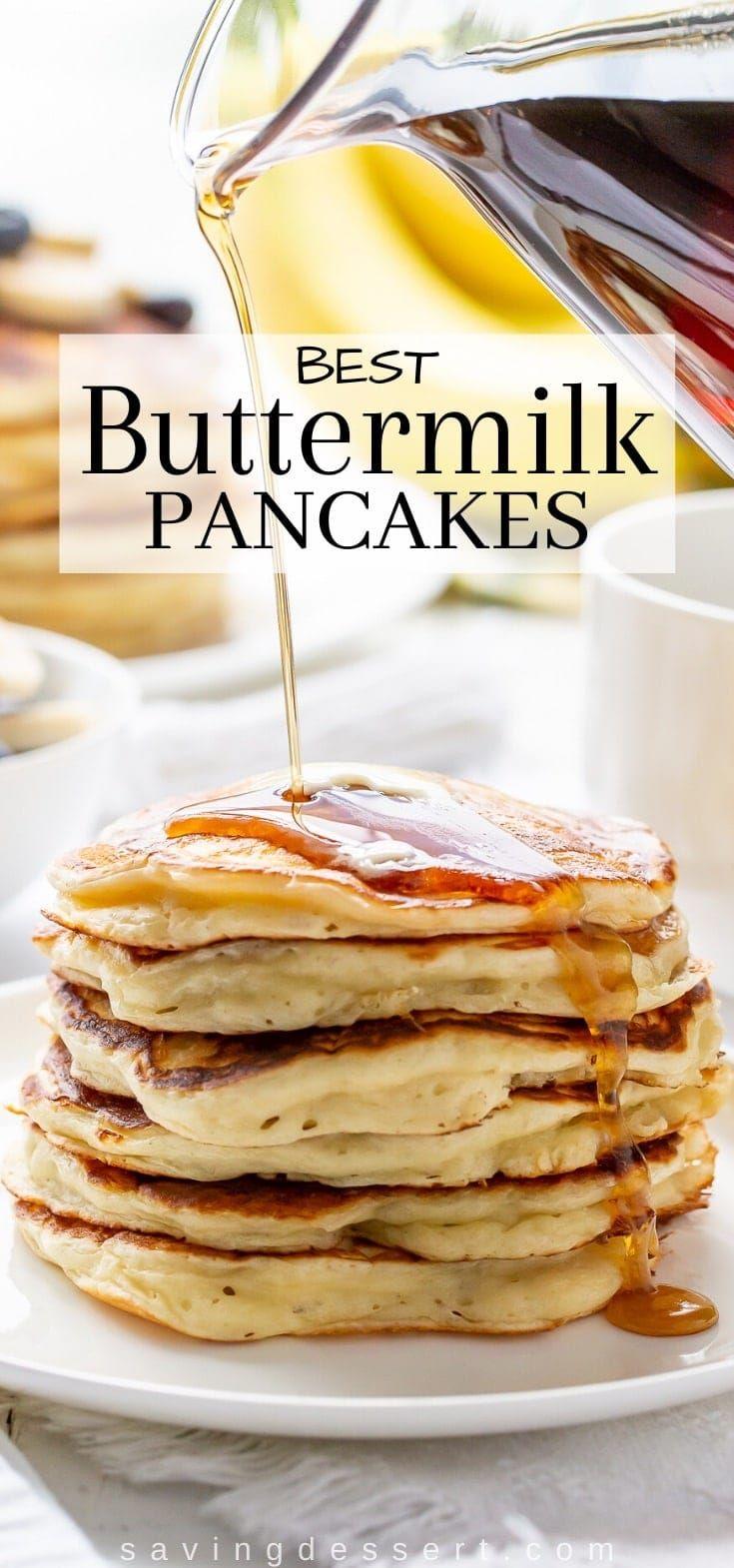 Best Buttermilk Pancakes Recipe In 2020 Buttermilk Pancakes Pancakes Recipes
