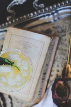 Elisa cocktail - Vanilla Vodka, Lillet, passion fruit, with a Champagne Float. #cocktail #cocktailrecipe