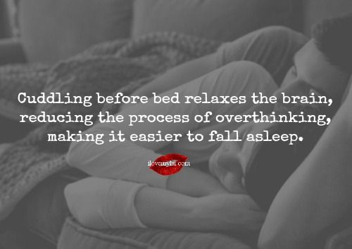 The Benefits of Cuddling Before Bed