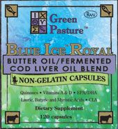 Butter Oil/Fermented Cod Liver Oil Blend; Non-Gelatin Capsules A must buy, so many health benefits!