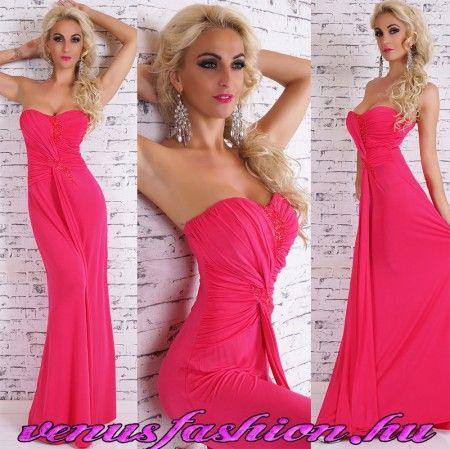 Elegáns pink női maxi ruha