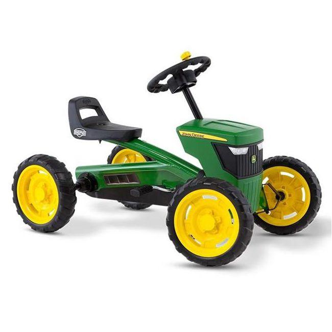 BERG Buzzy John Deere är den perfekta trampbilen för nybörjare och alla barn som gillar leka och motionera och upptäcka världen på egen hand. BERG Buzzy i  unik John Deere-design. Den robusta ratten med rattknopp, den stora huven med den tuffa grillen och, sist men inte minst, de breda traktordäcken gör trampbilen till en riktig John Deere.  Trampbilen är lämpad för barn från 2 till 5 år. Trampbilen är lätt och enkel att trampa. Säte och ratt är justerbara så barnet kan växa med trampbilen…