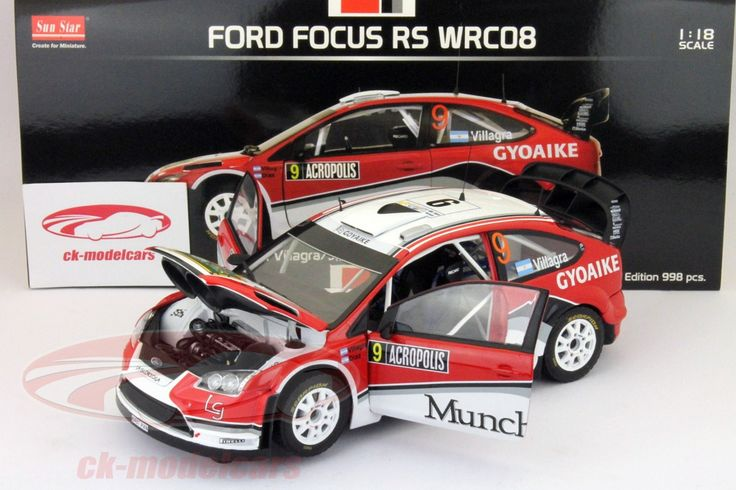 Ford Focus RS WRC08, Rally Acropolis 2009, No.9, F,Villagra / J.Diaz. Sun Star Models, 1/18, Limited Edition 998 pcs. Price (2016): 35 EUR.