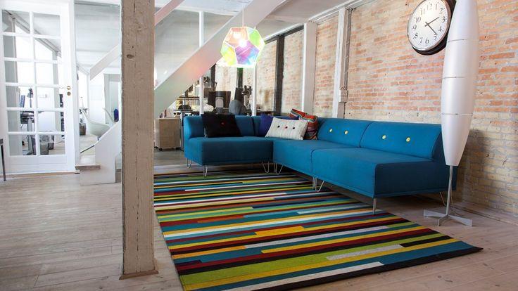 Fraster felt carpet design Zenith in the livingroom