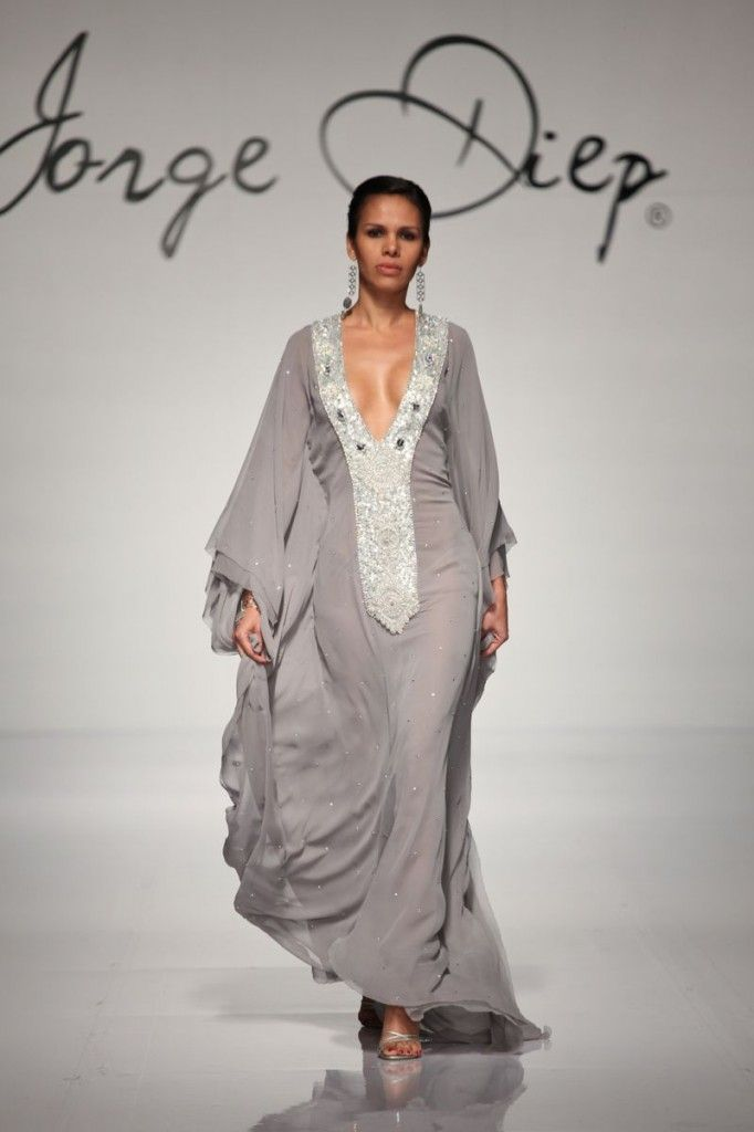 Gray and shimmery kaftan