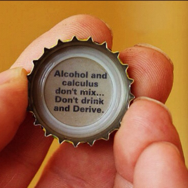 Haha for you alcoholic mathematicians out there