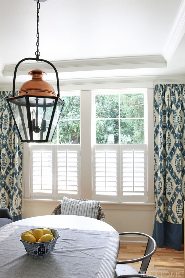 New Plantation Shutters. Ikat CurtainsDining Room CurtainsDraperyWindow ...