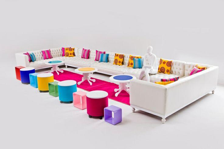 Coloured Lounge Pod