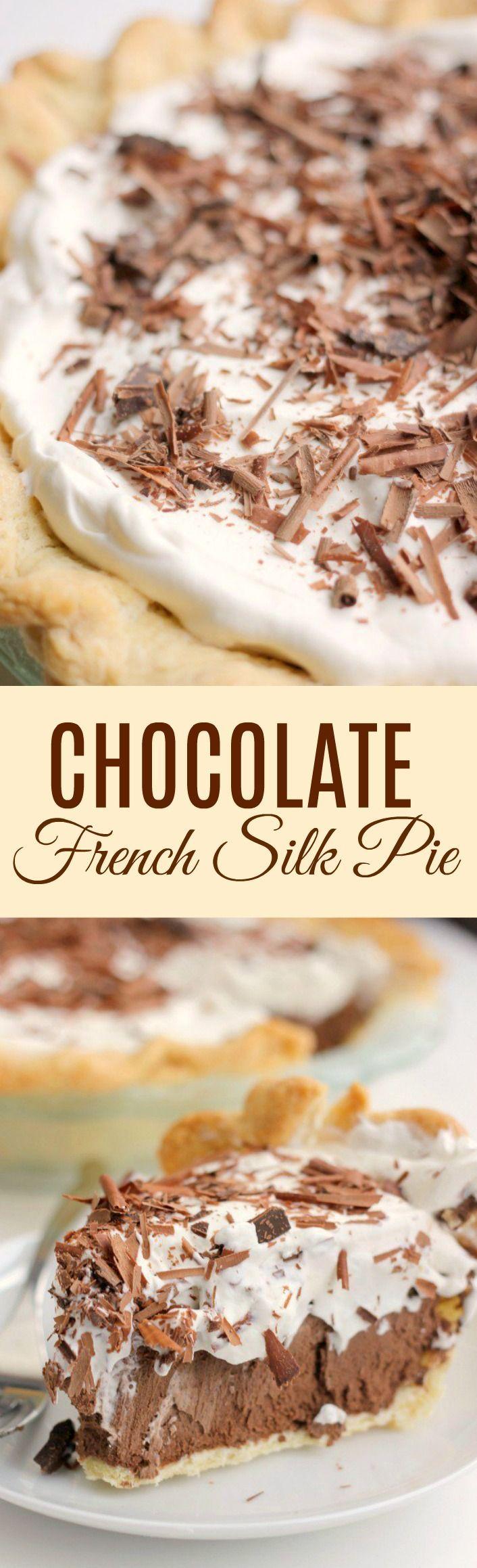 Easy Chocolate French Silk Pie Recipe