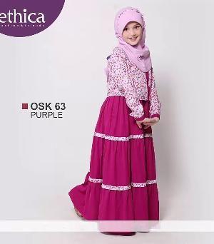 Baju Gamis Anak Ethica OSK 63 PURPLE - Size 3 - Sale