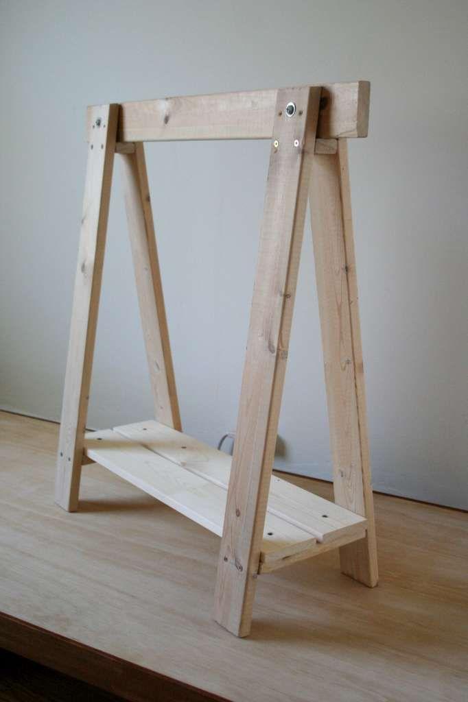 Las 25 mejores ideas sobre mesas plegables de madera en - Mesa con caballetes ...