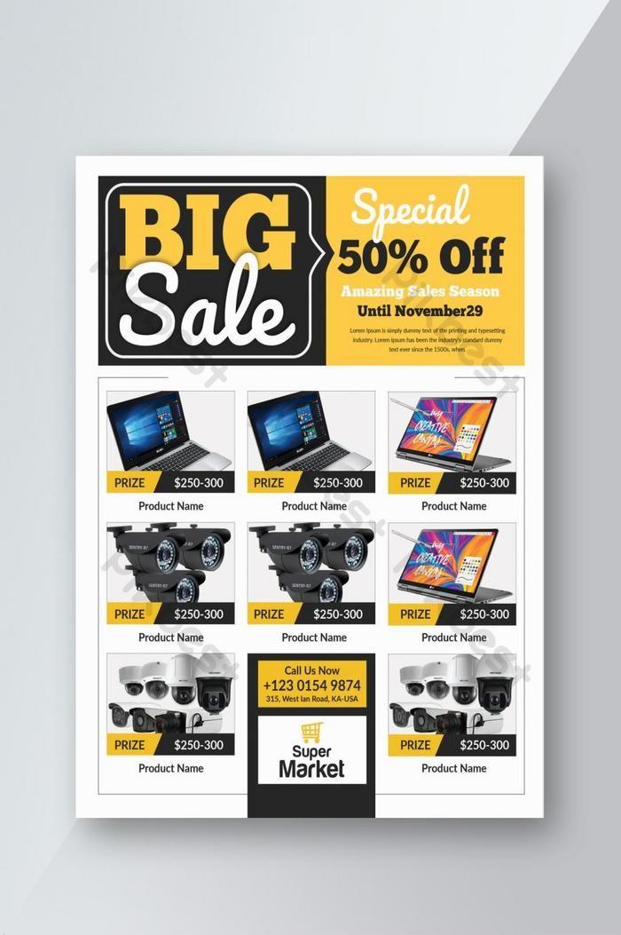 Big Sale Product Promotion Flyer Psd Free Download Pikbest Flyer Graphic Design Business Card Flyer Design Inspiration