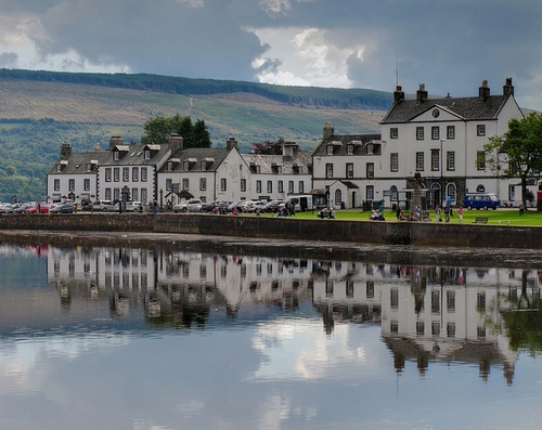 Inveraray, west coast of Scotland. This where Gary and I stayed on our way to Islay to catch the ferry. In the moring there was a very large naval vessel in the loch outside our bedroom window